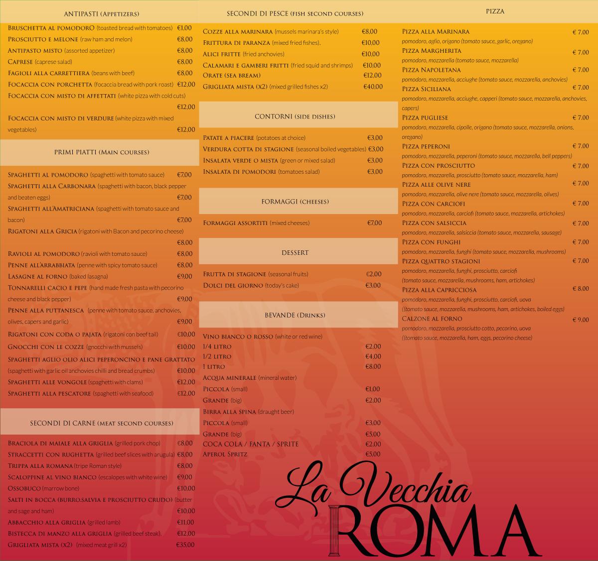 menu-la-vecchia-roma